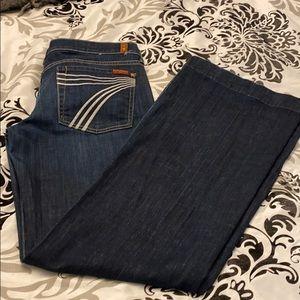 7 fam jeans, women's 32, New York dark, dojo